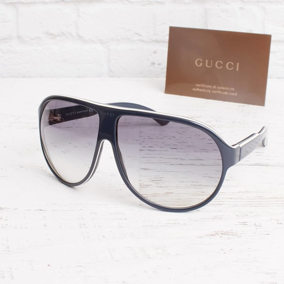 Gucci Sunglasses Women Men Blue Frames Aviator UV